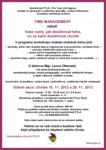 Workshop - Time management - listopad